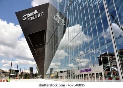 MINNEAPOLIS, MN, USA - JULY 15 2016: Minnesota Vikings US Bank Stadium in Minneapolis on a Sunny Day