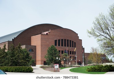 MINNEAPOLIS, MN, USA - MAY 2, 2017: Williams Arena on the campus of the University of Minnesota. Williams Arena is home of the University of Minnesota Golden Gophers basketball team.