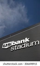 MINNEAPOLIS, MN/USA - AUGUST 6, 2015: U.S. Bank Stadium. U.S. Bank Stadium is the home starting 2016 of the Minnesota Vikings.