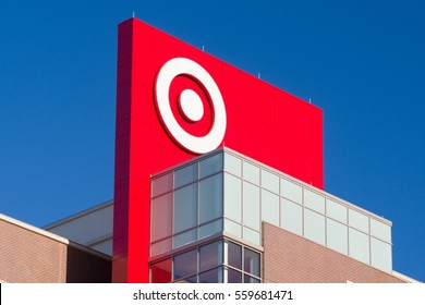 MINNEAPOLIS, MN/USA - JANUARY 14, 2017: Target Corporation corporate headquarters and logo. Target is the second-largest discount store retailer in the United States.