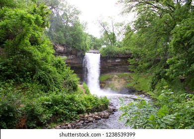 Minneapolis, MN/USA - Jun 8, 2018: Minnehaha Falls