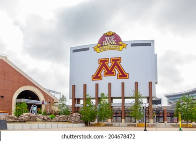 MINNEAPOLIS, MN/USA - JUNE 24, 2014: TCF Bank Stadium on the campus of the University of Minnesota. TCF Bank is an outdoor stadium and home to the Minnesota Golden Gophers football team.