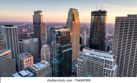 Minneapolis Skyline - Aerial