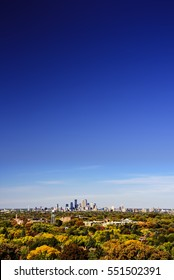 Minneapolis skyline as seen from the Highland Park Water tower
