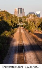 Minneapolis and train tracks