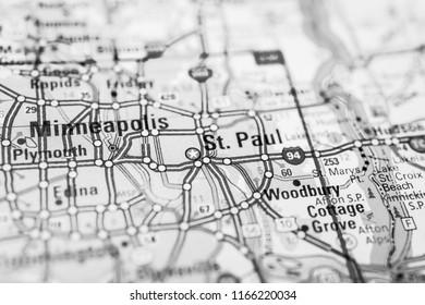 Minneapolis USA map
