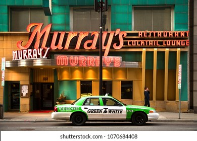 MINNEAPOLIS-MINNESOTA, march 28, 2018:  Murray's is a landmark steakhouse in downtown Minneapolis, home of the famous Silver Butter Knife Steak. Since 1954.