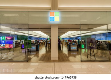 MINNEAPOLIS,MN - JULY 28: Microsoft store in Mall of America, in Minneapolis, MN, on July 28, 2013. The company was founded by Bill Gates and Paul Allen on April 4, 1975.