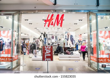 MINNEAPOLIS,MN - SEPTEMBER 26: HM store and logo in Mall of America, in Minneapolis, MN, on September 26, 2013.