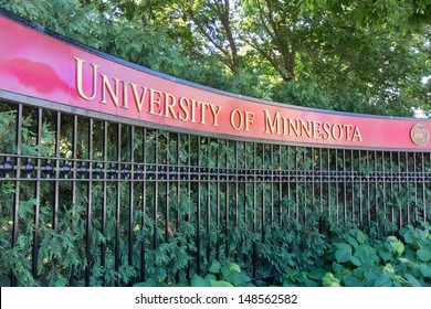 MINNEAPOLIS/USA - JULY 23: Entrance to the campus of the University of Minnesota on the campus of the University of Minnesota, the 6th largest university in the USA. July 23, 2012.