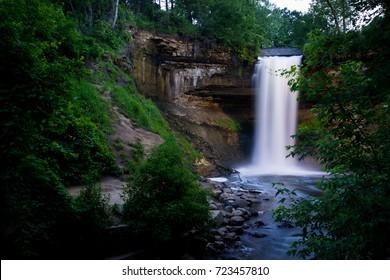 Minnehaha Falls in Minneapolis, MN.