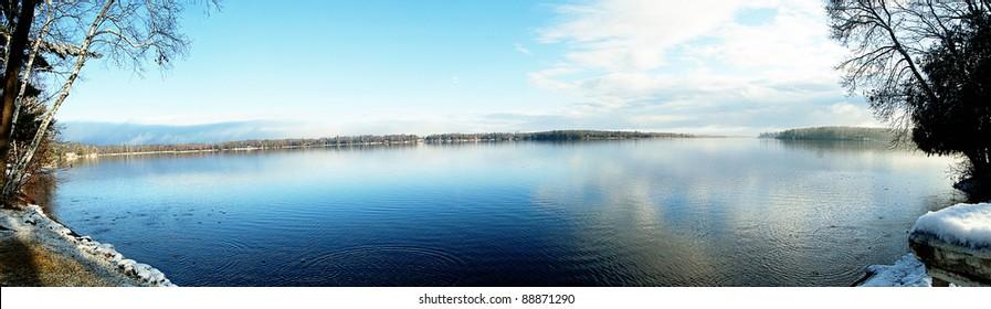 Minnesota Lake on a cool crisp November morning