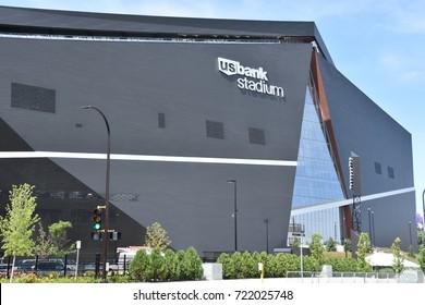 MINNESOTA, MINNEAPOLIS - JUL 26: US Bank Stadium in Minneapolis, Minnesota, as seen on July 26, 2017. It is the home of the Minnesota Vikings of the National Football League (NFL).