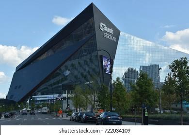 MINNESOTA, MINNEAPOLIS - JUL 27: US Bank Stadium in Minneapolis, Minnesota, as seen on July 27, 2017. It is the home of the Minnesota Vikings of the National Football League (NFL).