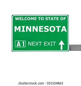 MINNESOTA road sign isolated on white