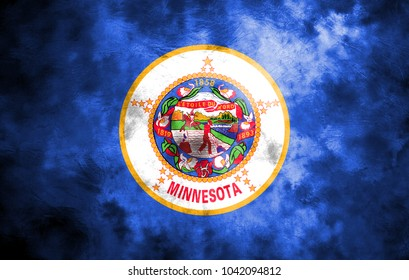 Minnesota state grunge flag, United States of America
