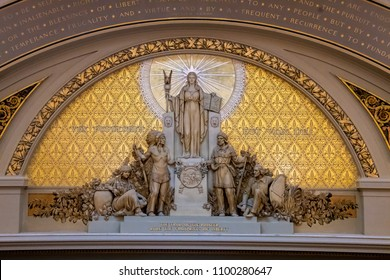 Minnesota state symbol displayed in its all glory inside senate house of st'paul capitol