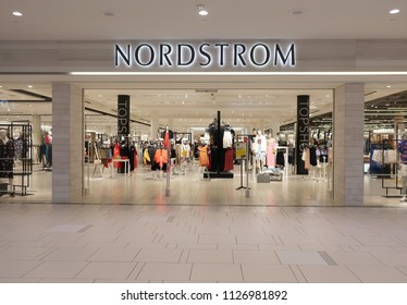MINNETONKA, MN - JULY 4:  Nordstrom Department Store at the Ridgedale Mall, on July 4, 2018.