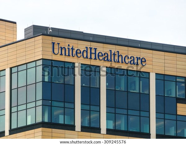 MINNETONKA, MN/USA - August 13, 2015:  UnitedHealth Group headquarters building. HealthPartners is an integrated, nonprofit health care provider.