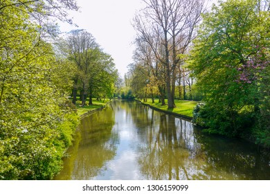 Minnewaterpark, Bruges, West Flanders, Belgium