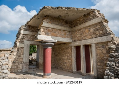 The Minoan Palace of Knossos in Crete, Greece