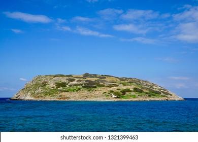 Minoan settlement on the island Mochlos, Crete, Greece on the southside of the island