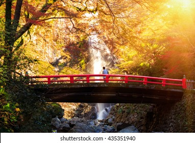 Minoh waterfall in autumn season, Osaka Japan, Beautiful waterfall in osaka japan, Minoh Park