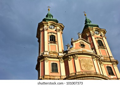 Minorite church in the middle of Eger, Hungary.