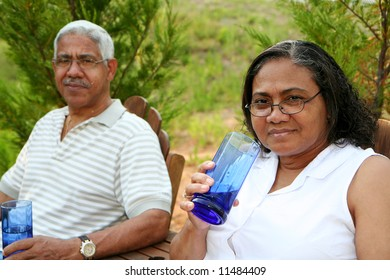 Minority couple at their home