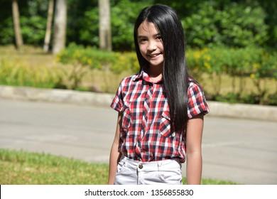 Minority Girl And Happiness