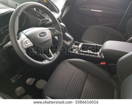 Minsk Belarus 08052018 Ford Kuga Interior Stock Photo (Edit Now ...