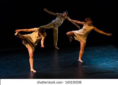 MINSK, BELARUS - 19 JUNE: SKVO's Dance Company dance collective performance in Minsk. 19 June, 2013