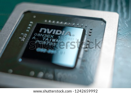Minsk Belarus 2018 Nvidia Geforce Graphic Stock Photo (Edit Now
