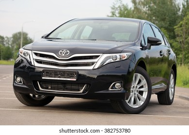 Minsk, BELARUS - APRIL 27, 2014: New Toyota Venza Imported from Moscow to Minsk. The car is parked on a street in Minsk.