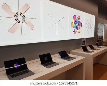 Minsk, Belarus. December, 2019. iStore shop. iStore is an Apple Premium Reseller (APR) which is a dedicated hub for Apple products and accessories.