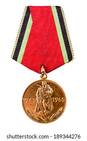 MINSK, BELARUS - FEB 03: Russian (soviet) medal for participation in the Second World War, February 03, 2014.