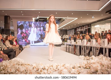 MINSK, BELARUS - January 22, 2017: Models walk runway at Minsk fashion day competition and performance at Minsk, Belarus