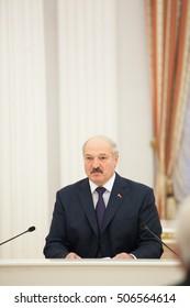 MINSK, BELARUS - March 11, 2013: President of Belarus Alexander Lukashenko