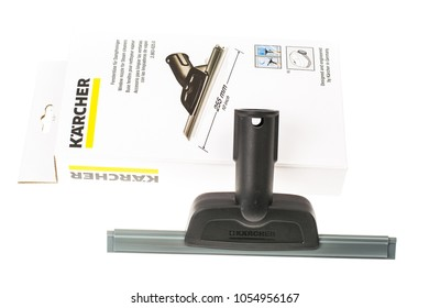 Minsk, Belarus - March 17, 2018: Accessories for Steam Cleaner Karcher SC3 for home us, cleaning equipment. The company was founded in 1935 in Germany, Winnenden.