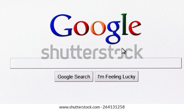 MINSK, BELARUS - May 20, 2011: Homepage Of Google.Com, The Biggest Search Engine. Google is an American multinational corporation specializing in Internet-related services and products.