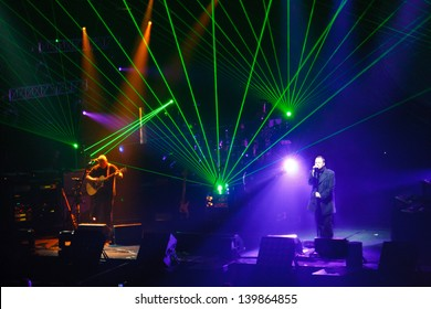 MINSK, BELARUS - MAY 25: Pink Floyd, Music show of Australian band in Minsk, on May 25, 2013, in Minsk, Belarus