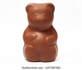 Minsk, Belarus, May 29, 2018: Photo of a Lindt Milk Chocolate Bear