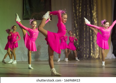 """MINSK, BELARUS NOVEMBER 30: unidentified young dancers participates in """"DancePower"""" competitions in choreography , 30 November 2013 in Minsk, Belarus."""