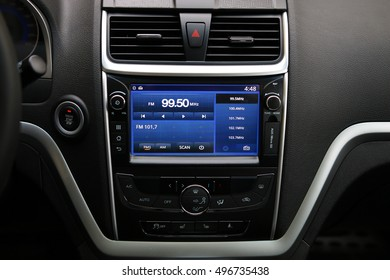 MINSK, BELARUS OCTOBER 07, 2016: Restyling Geely Emgrand7 at the test drive event for automotive journalists from Minsk