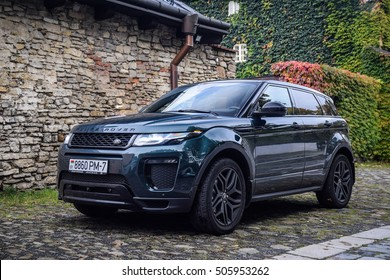MINSK, BELARUS - OCTOBER 20, 2016: Range Rover Evoque at the test-drive. Range Rover Evoque offers you many possibilities to personalise your vehicle and match your style.