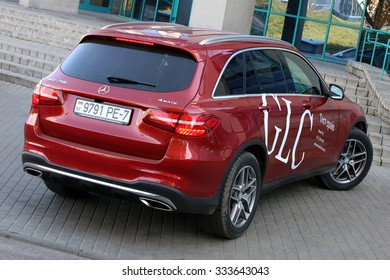 MINSK, BELARUS - October 31, 2015: Mercedes-Benz GLC at the test drive event for automotive journalists from Minsk