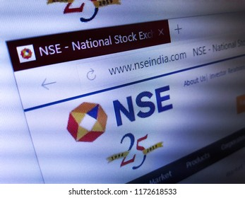 Minsk, Belarus - September 05, 2018: The homepage of the official website for The National Stock Exchange of India Limited (NSE), the leading stock exchange of India, located in Mumbai.