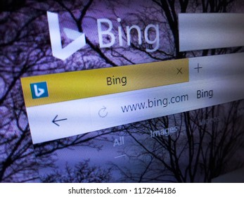 Minsk, Belarus - September 05, 2018: The homepage of the official website for Bing, a web search engine owned and operated by Microsoft.