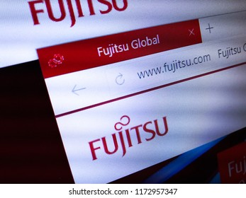 Minsk, Belarus - September 05, 2018: The homepage of the official website for Fujitsu Ltd., a Japanese multinational information technology equipment and services company