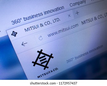 Minsk, Belarus - September 05, 2018: The homepage of the official website for Mitsui Group, one of the largest keiretsu in Japan and one of the largest corporate groups in the world.